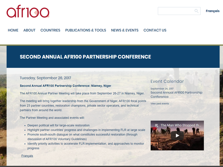Second Annual AFR100 Partnership Conference: Niamey, Niger